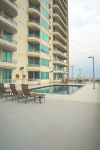 Seabreeze tower pool deck