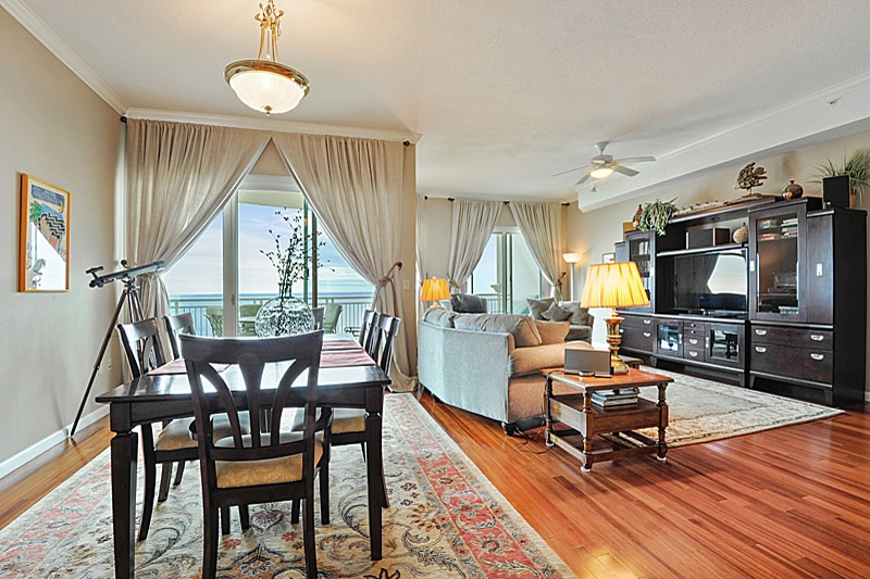 Legacy Towers Condo Just Sold Gorgeous living room in unit 1302.