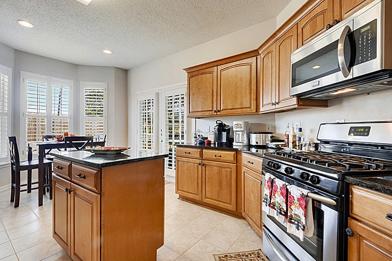 Newly Renovated Kitchen in the Legacy Villas unit seals the deal with the new owners.